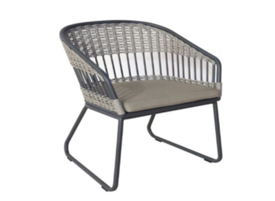 Expressionsmetis Outdoor Furniture Synthetic Rattan Metal Frame Dining Chair
