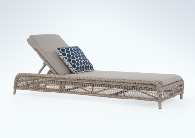 Expressionsmetis Outdoor Furniture Uv Cord Synthetic Rattan Woven Sun Lounger