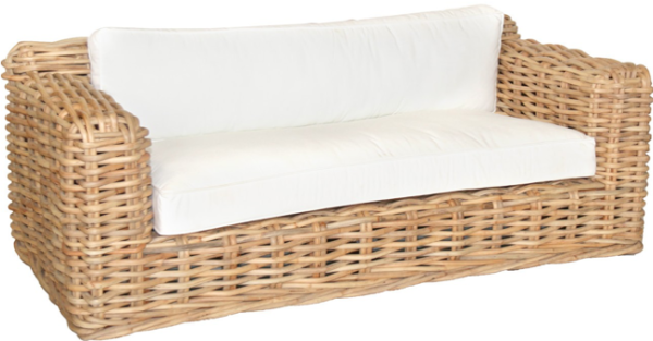 Expressionsmetis Outdoor Indoor Colonial Style Furniture Natural Rattan Sofa