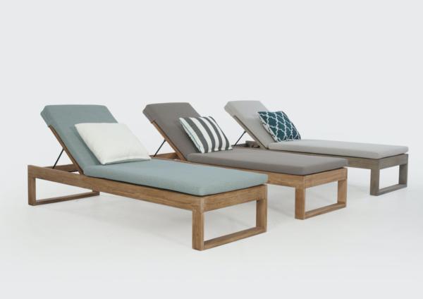 Expressionsmetis Outdoor Teak Wooden Sun Lounger
