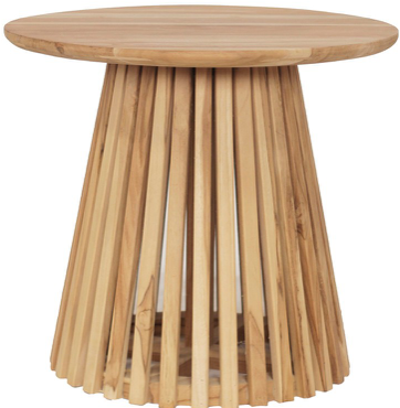 Expressionsmetis Round Cage Teak Wood Side Table Teak D50h55