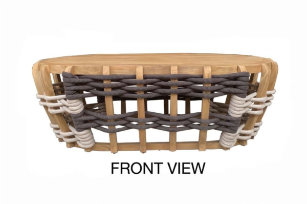 Expressionsmetis Thick Rope Living Room Furniture Interlaced Teak Wood Coffee Table
