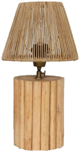 Expressionsmetis Tnt Bed Side Table Lamp Natural Rattan Mini Stand Shade