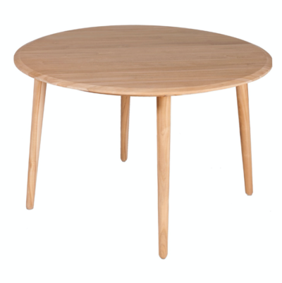 Expressionsmetis Wooden Furniture Round Dining Table D120=teak