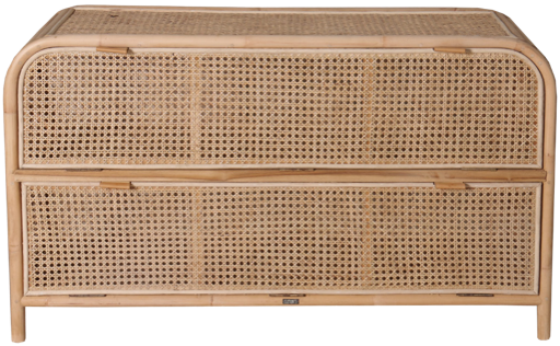 Expressionsmetis Bed Room Furniture Drawers Long Cabinet Natural Rattan Chicken Eye Weaving 122x35x70