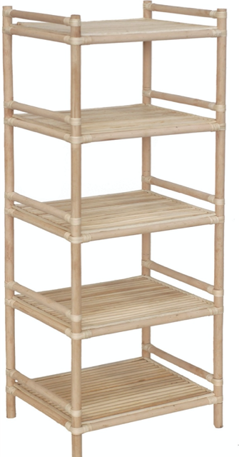 Expressionsmetis Natural Rattan Shelves Rack Clothing Bedroom Laundry Kitchen All Purpose 55x45x165