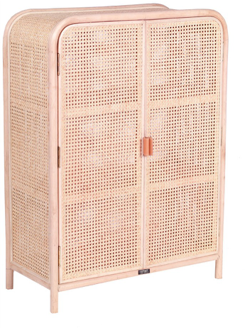 Expressionsmetis Sara Medium Bedroom Furniture Natural Rattan Cane Woven Ward Robe Door 8035110 Medium